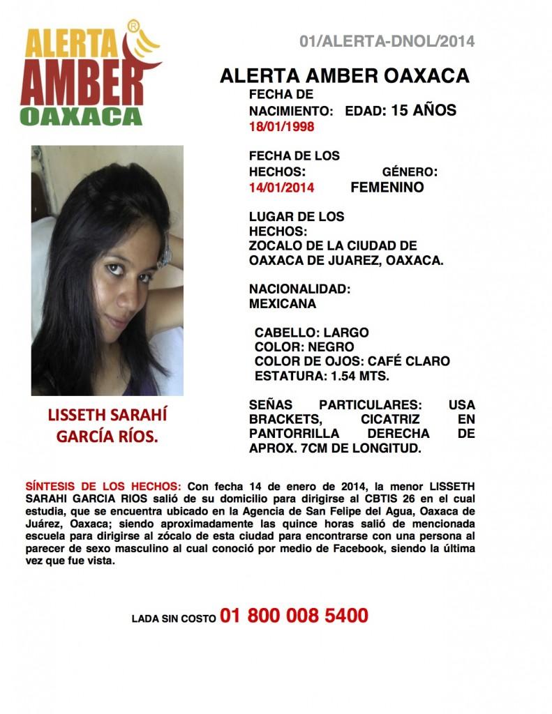 ALERTA LISSETH SARAHI GARCIA RIOS 01-ALERTA-DNOL-2014 copia