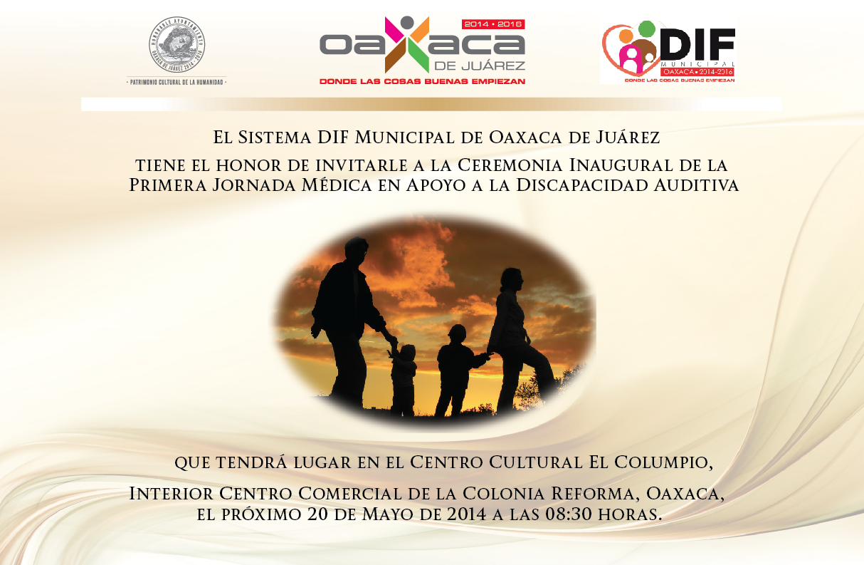 invitación para la primera jornada médica en apoyo a discapacidad auditiva